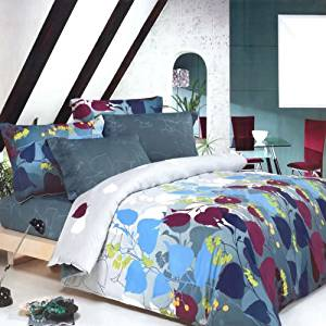 Blancho Bedding - [Grapevine Leisure] 100% Cotton 3PC Mini Comforter Cover/Duvet Cover Set (Full Size)