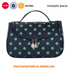 Larger-Capacity Dots Toiletry Cosmetic Bag Grooming Wash Shaving Bag For Men (Navy Blue)