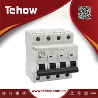 TEHOW elcb 2 pole earth leakage circuit breaker rccb price breaker