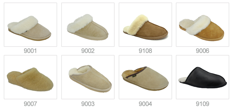 5007 Leather moccasin slippers
