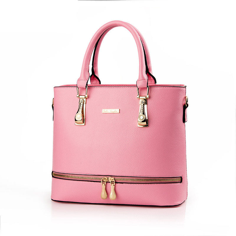 Hand Bag Manufacturers Bulk Wholesale Bags Pink PU Women Handbags For Office Lady