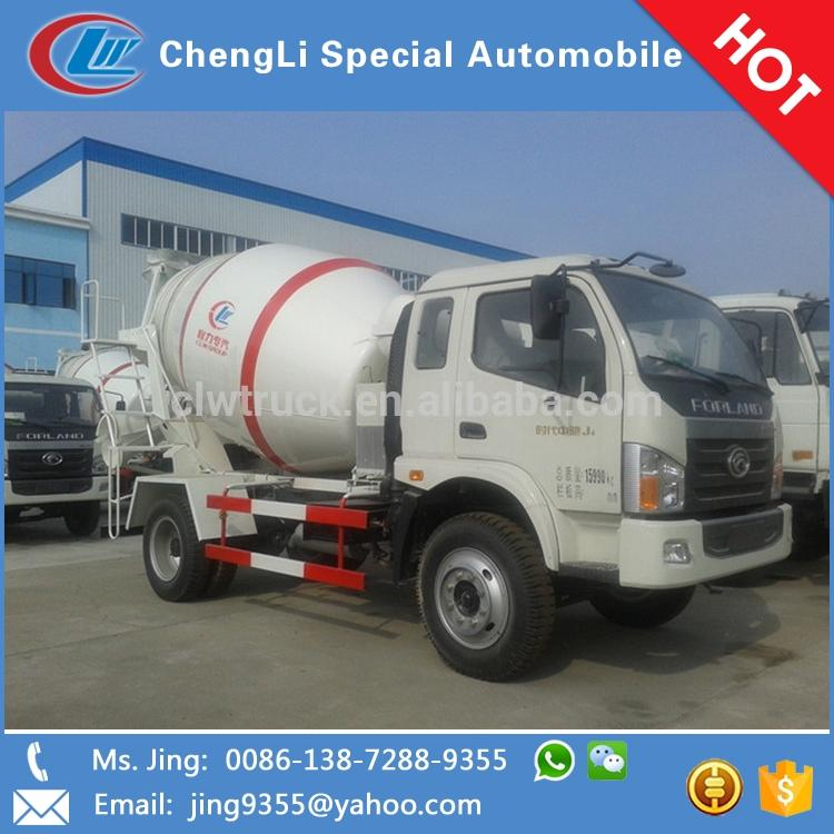 2015 high performance LHD or RHD Foton cement mixer,4m3 mini truck concrete mixer