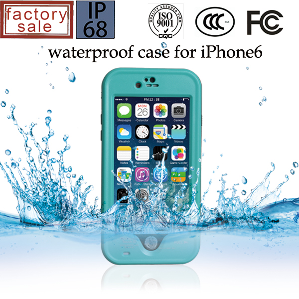 For iphone 6s waterproof case with little dot design 100% waterproof