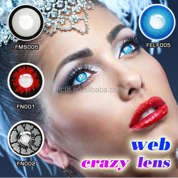 Web colored contacts RED halloween contact lenses