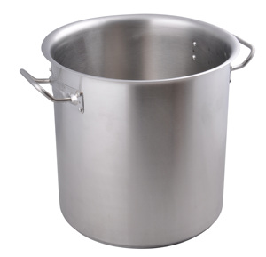Factory Direct Three Layers Induction Compatible Bottom Stainless Steel Restaurant Soup Pot with Lid