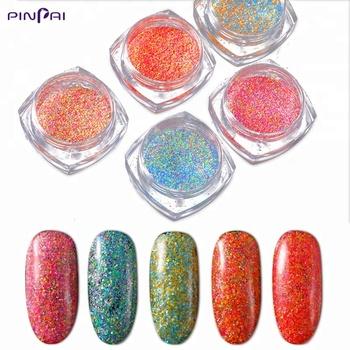 Pinpai Brand Shining Sugar Glitter Dust Powder Nail Art Colorful