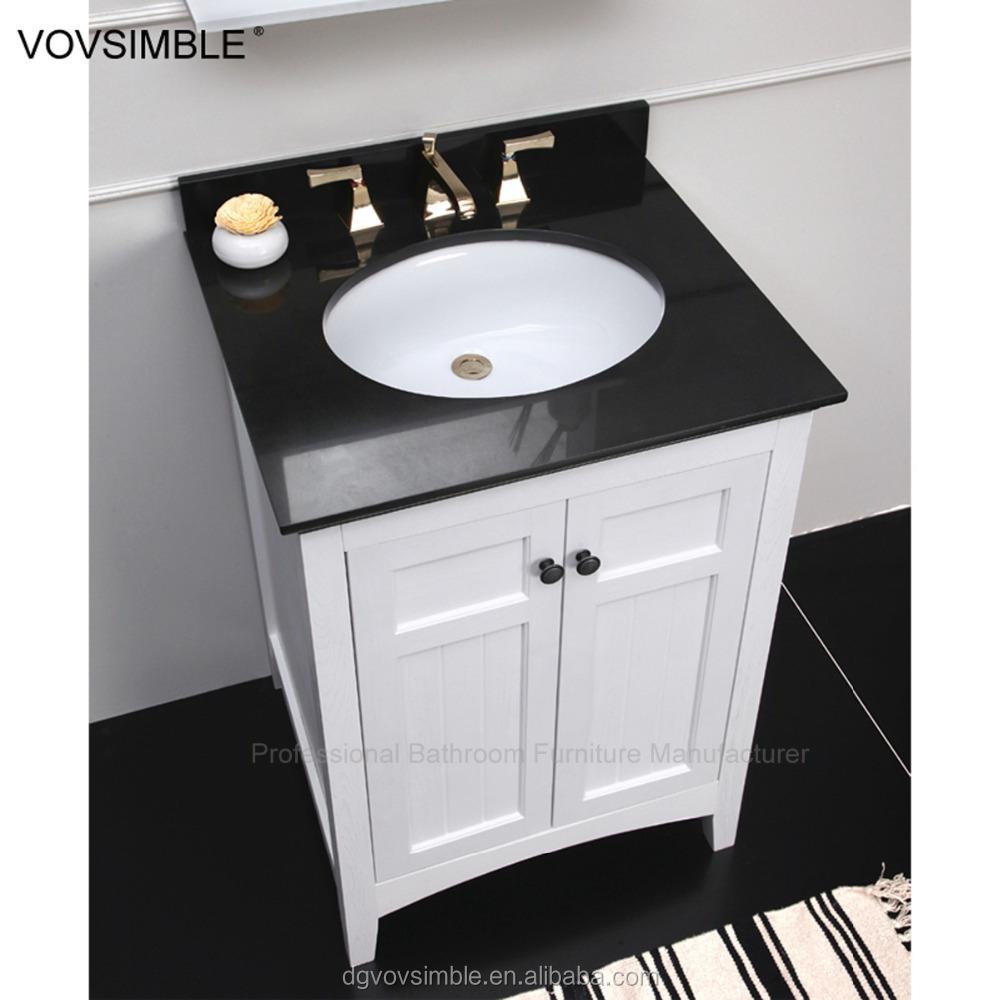 New Model Solid Wood Bathroom Furniture Cabinet American Style Mirror Clic