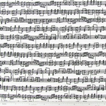 """1/2 Yard - """"Let There Be Music"""" Black Musical Staff Striped on White Cotton Fabric (Great for Quilting, Sewing, Craft Projects, Blankets & More) 1/2 Yard x 44"""""""