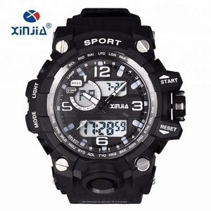 2018 XINJIA Brand Dual Display Sport Watch For Men Water Resistant 50M Military Big Analog-digital Shock Outdoor Waterproof