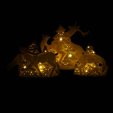 Hot sell fashion design ceramic led christmas deer ornament