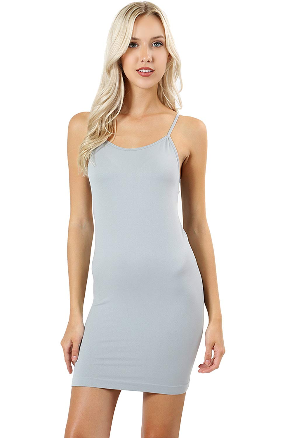 f80e670f93c71 Get Quotations · LAB 301 Women's Essential Seamless Stretchable Slip Dress  with Adjustable Strap