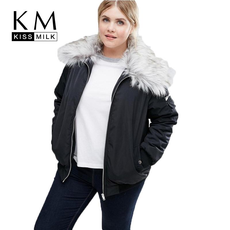 Manteau col fourrure femme grande taille