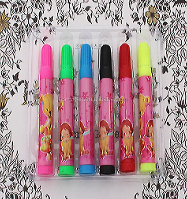 6 stks/set kleur water pen magic drawing pen aanwezig graffiti sets voor kids