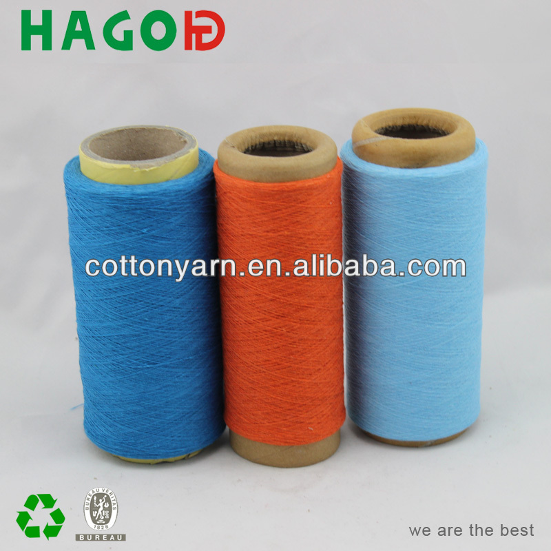cotton polyester carded recycled yarn knitting loom