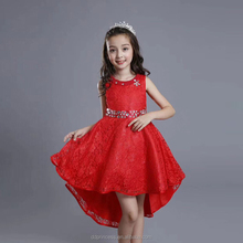 wholesale red kids baby girls party wedding Tailing evening dress