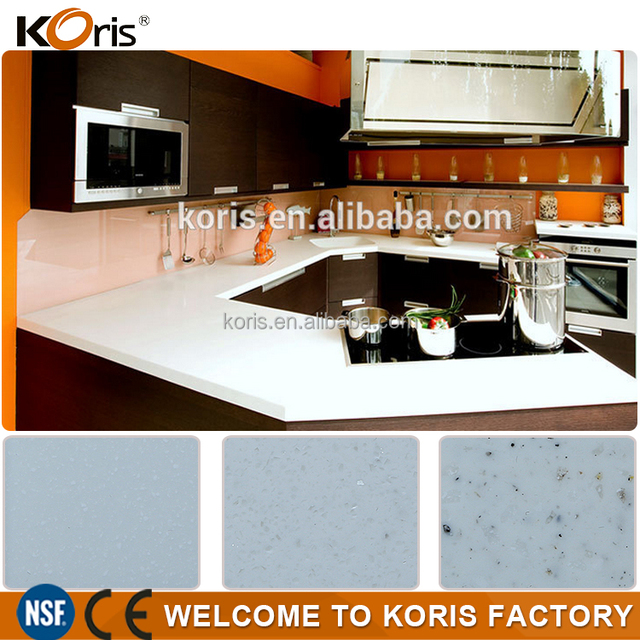 Chinese Solid Surface Kitchen Man Made Lowes Granite Countertops Colors