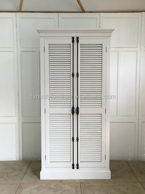 Antiguo estilo europeo muebles de madera armario blanco gabinete ...