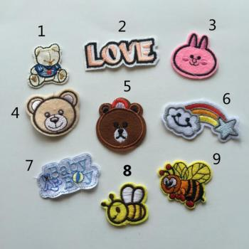 fashion colorful custom sequin embroidery patches for baby clothes D13