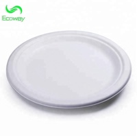 Disposable Sugar Cane Bagasse Biodegradable 9 inch Round Plate /Eco-friendly sugar cane pulp plate for Dinner