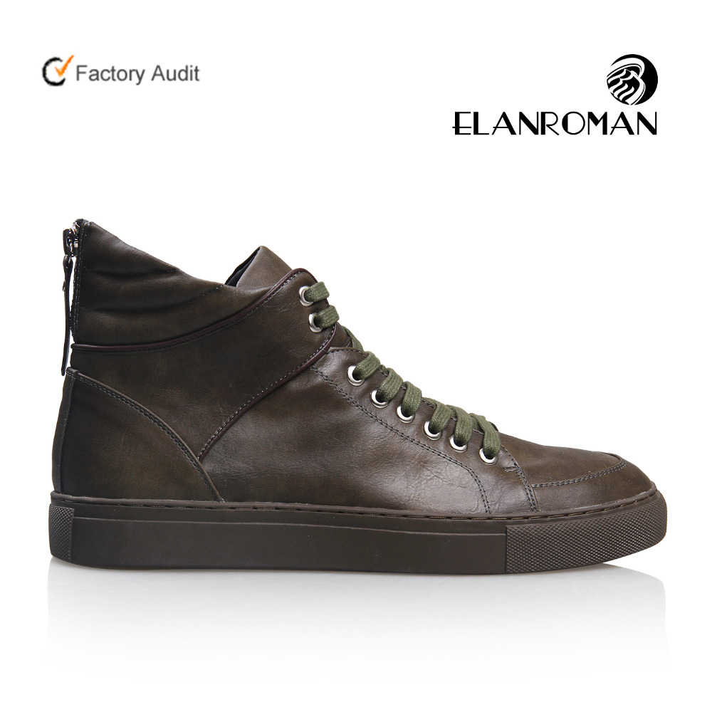 Label Quality Leather Genuine High Casual Fashion Private Sneakers Shoes Top Men Customise 0qxUw5