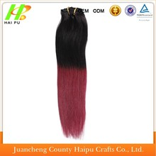 Ombre Brazilian Hair Straight 1B 99J/Burgundy Brazilian Hair Weave Bundles