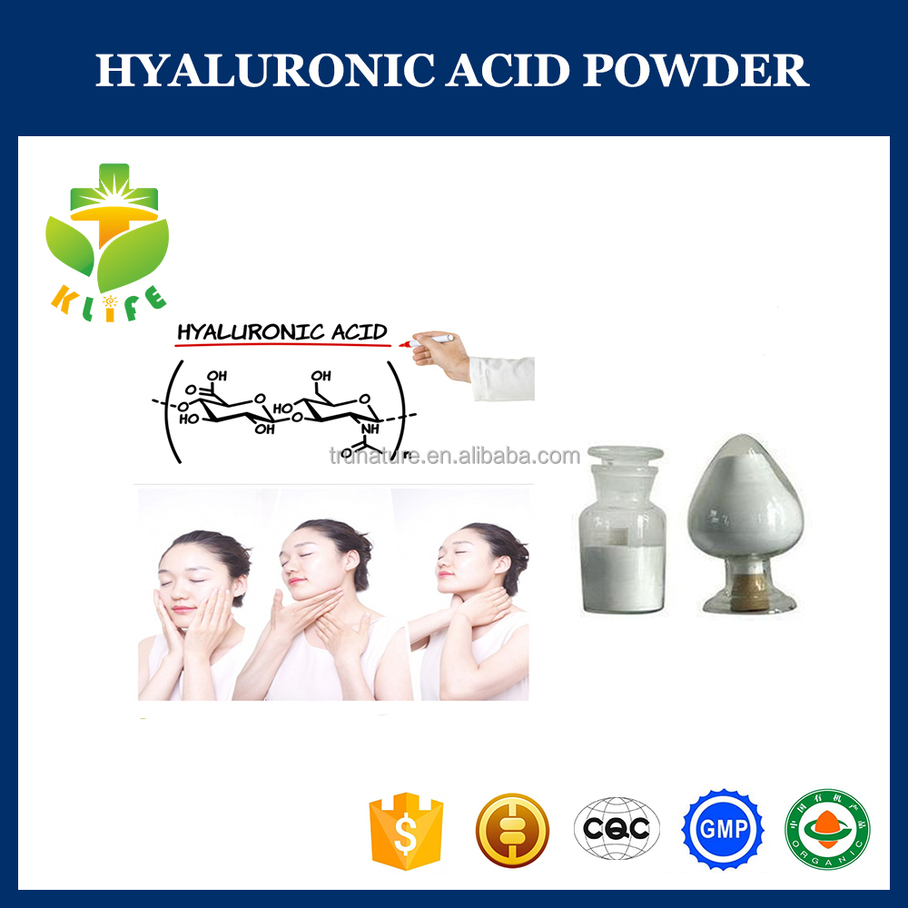 High quality hyaluronic acid 99 purity powder for anti-wrinkle