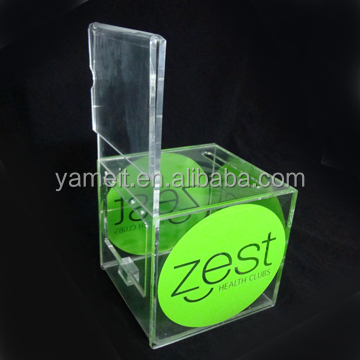 Cool Acrylic donation /ballot/suggestion/collection display box