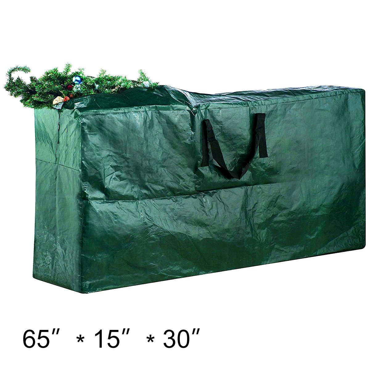 Christmas Tree Storage Bag Tree Storage Container Holiday Garland or Xmas Tree Container with Handle Heavy Duty Xmas Bag for Easy Storage 65x30x15''