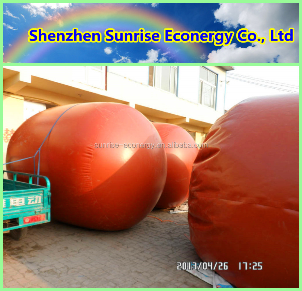 Sunrise econergy 3-100m3 PVC membrane red mud biogas tank for animal waste