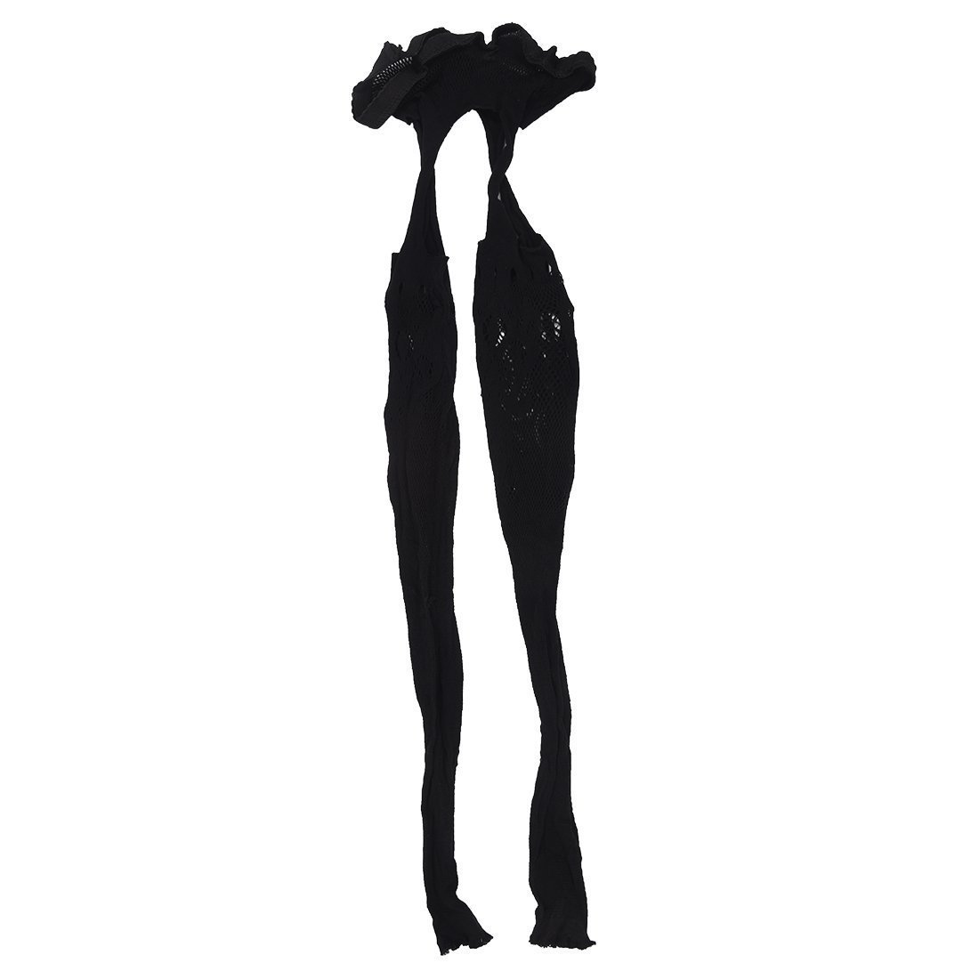 GQMART Women'S Sheer Sexy Lace Top Thigh-Highs Stockings Black