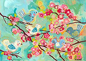 Oopsy Daisy Cherry Blossom Birdies by Winborg Sisters Canvas Wall Art, 14 by 10-Inch