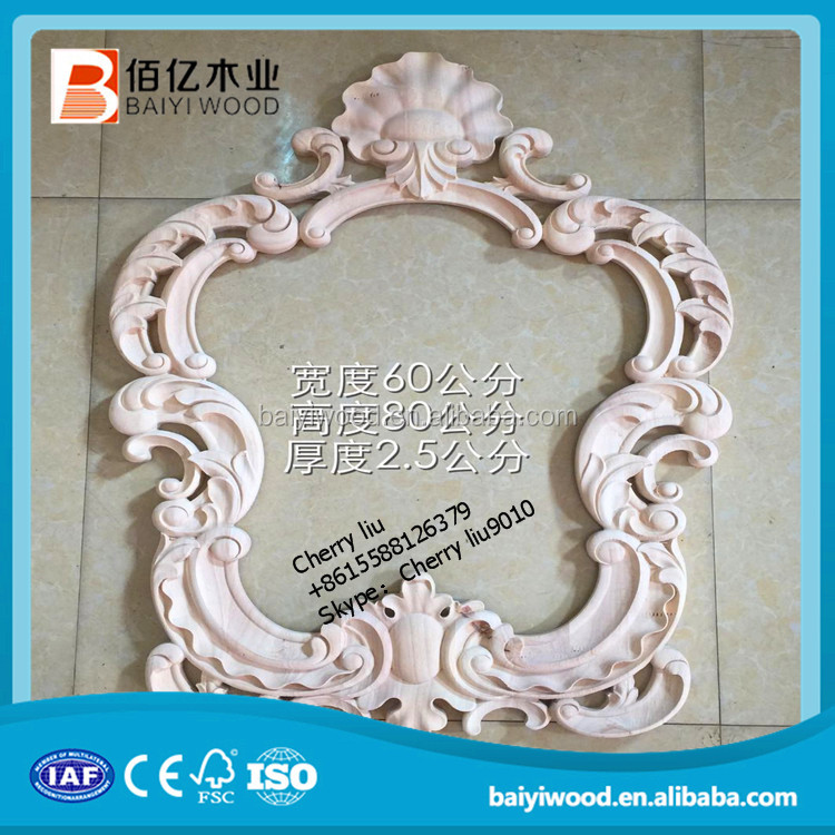 decoration timber applique and onlay for Middle East market