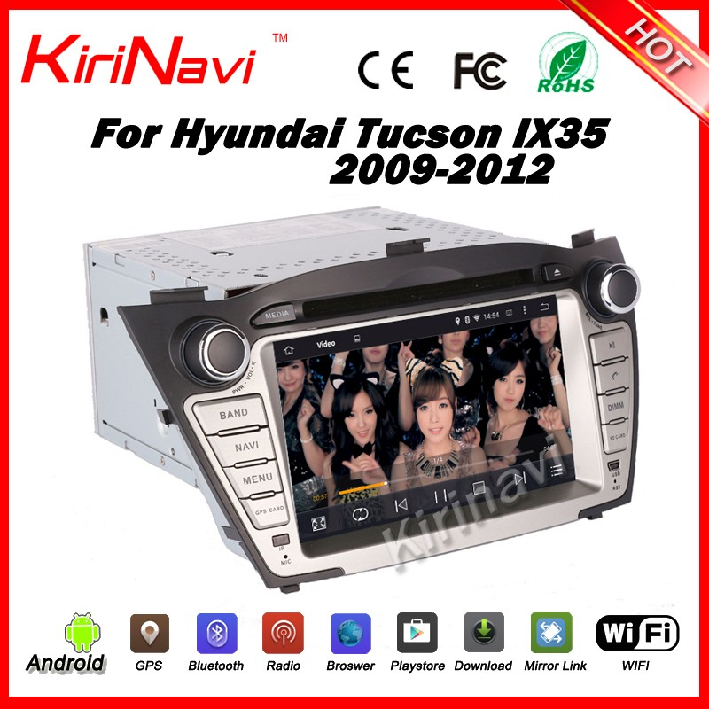 Kirinavi WC-HIX7013 android 7.1 car stereo multimedia system for hyundai ix35 tucson 2009 2010 2011 2012 navigation dvd 3G WIFI