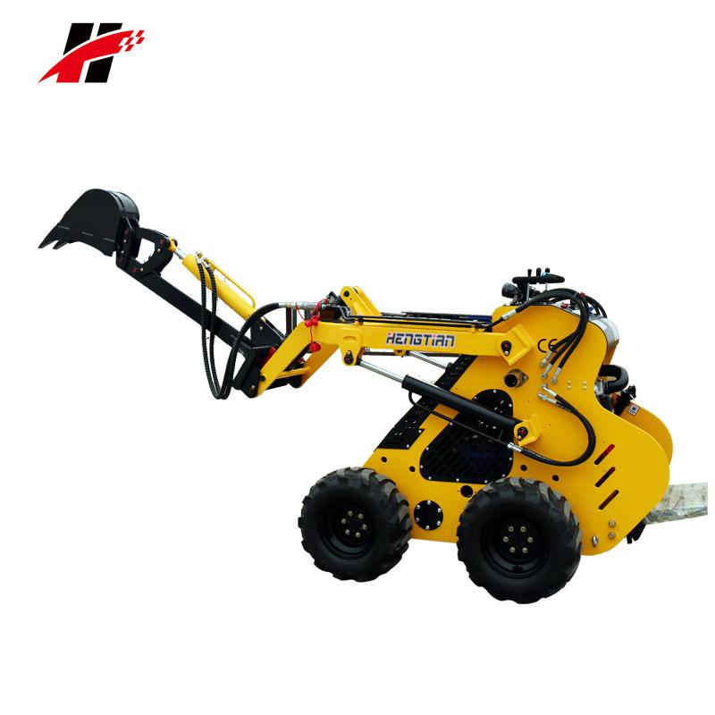 Skid steer cargador de rueda delantera con mini retroexcavadora excavadora