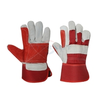 Heavy duty industrial leather work hand gloves