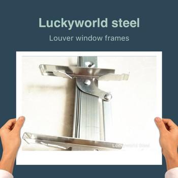 Hot Sale 3blade Pp Clip Aluminium Single Contral Louver Glass Window ...