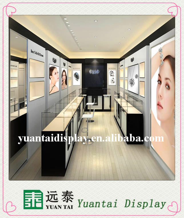 Attractive Jewellery Display Kiosk Shop Furniture Design Store Interior With Led
