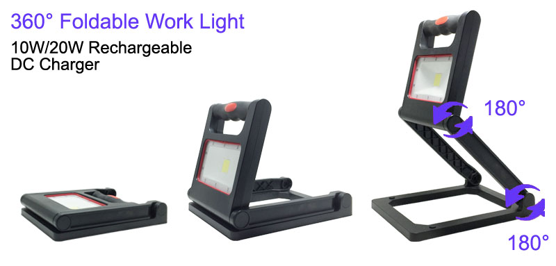 Portable Rechargeable Work Light Foldable Mail Box Lamp COB flexible led inspection light with magnet