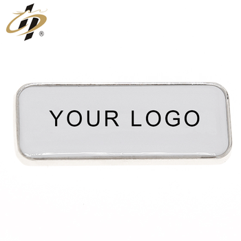 Custom rectangle blank metal silver personalised fridge magnets with own logo