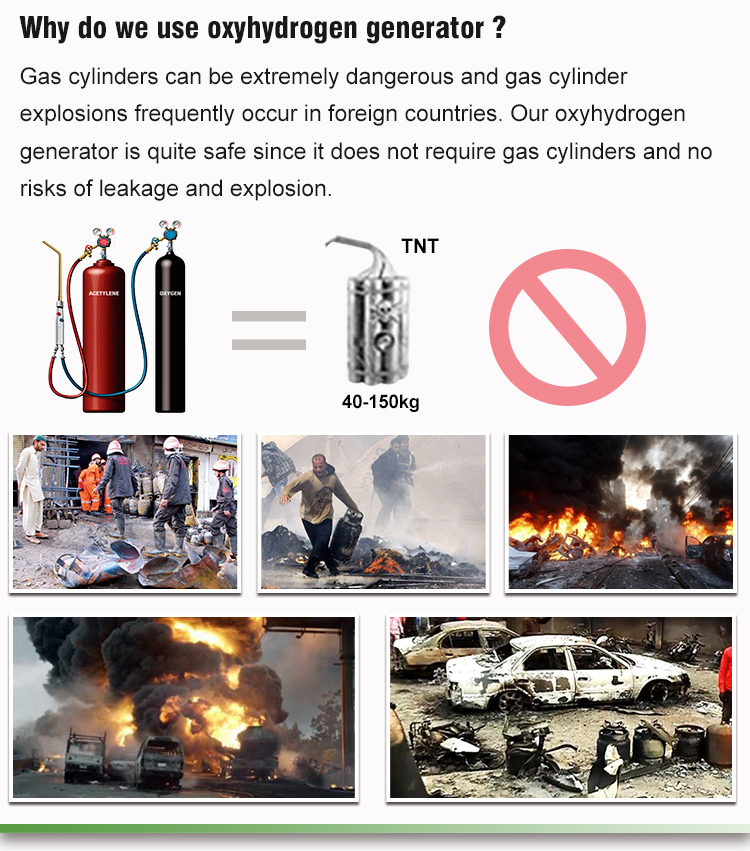 Okay energy OH series portable cost saving hho hydrogen gas generators for wide application