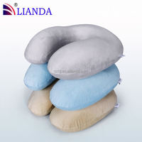 3 in1 Travel Set Inflatable Neck Air Cushion Pillow + eye mask + 2 Ear Plug ComfortableTraveling