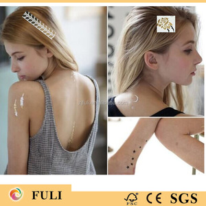 Moon and Star shaped Iron on fashion beauty temporary hair tattoos