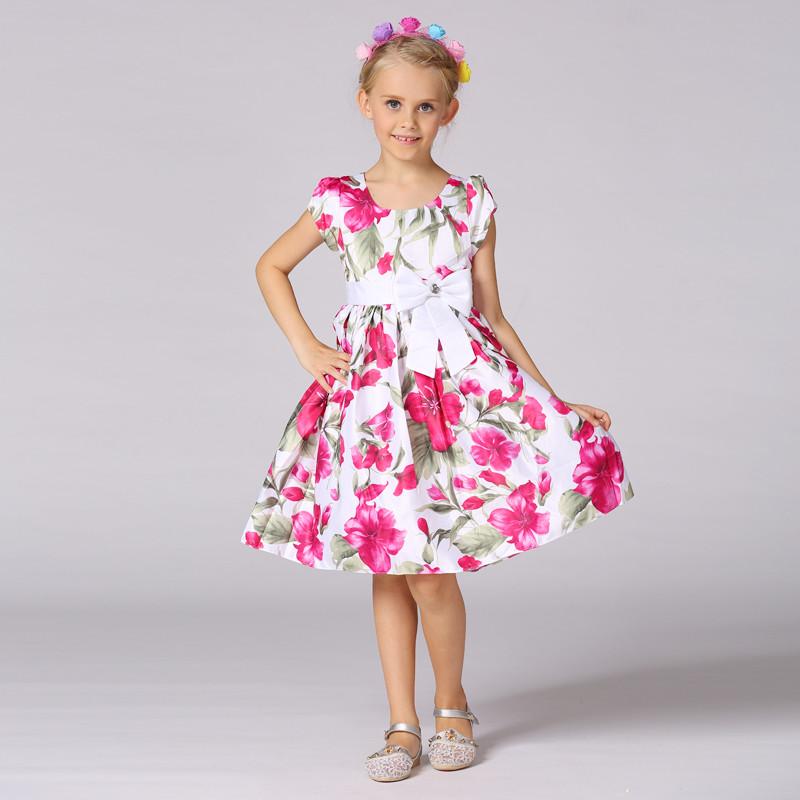 Floral niños diseño vestidos niñas vestido de verano niñas princesa ...