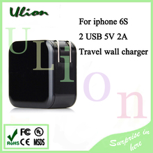 Faster shipping AC 110-240V DC 5V 2A USB US plug AC Adapter Wall Home Charger for iPhone 5 Charger