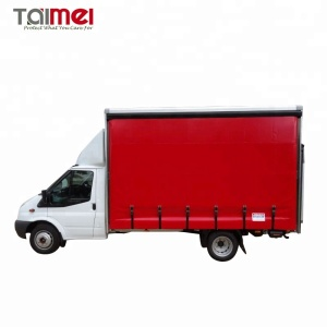 PVC Coated Tarpaulin Fabric Truck Curtain Side Roller