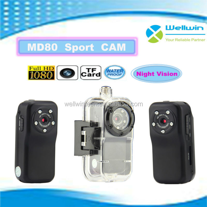 Latest Miniwaterproof md80 full hd 1080p sports camera