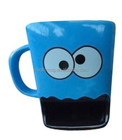 Ceramic Cookie Monster Mug With Black Mouth