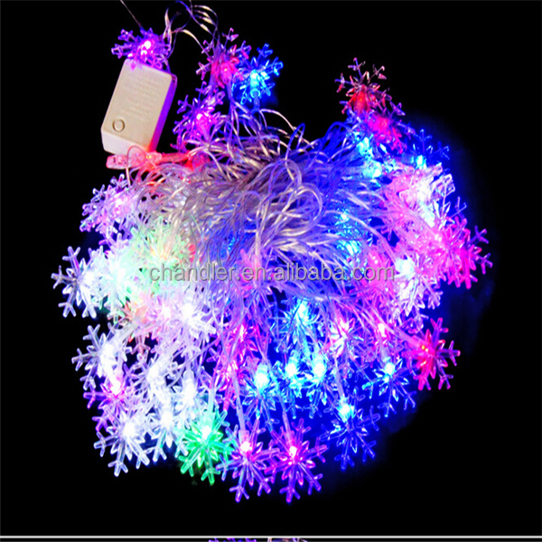 Led String Lights Outdoor Decoration 50m 400led Snowflake String ...