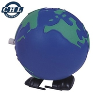 PU foam squeeze stress reliever walking globe