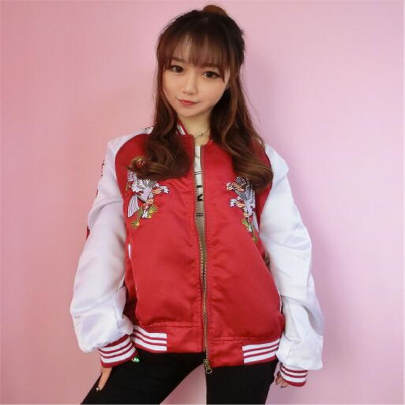 Fashion Casual Women Girl Plain Varsity Baseball Jacket Coat College Sports Tops